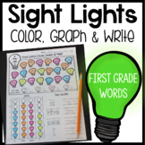 Sight Word Graphing: Color, Graph & Write - First Grade Words