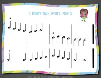 Sight-Reading Rockstar Bundle {80 Pages of Pre-Staff Sightreading Exercises}