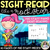 Sight-Reading Like A Rock Star {80 Pages of Pre-Staff Sightreading Exercises}