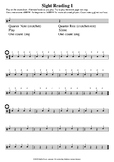 Sight Reading 1 - MUSIC RHYTHM SHEETS - Quarter Notes and Rests