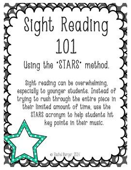 Sight Reading 101