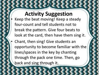 Sight Reading Drill Cards - Fa