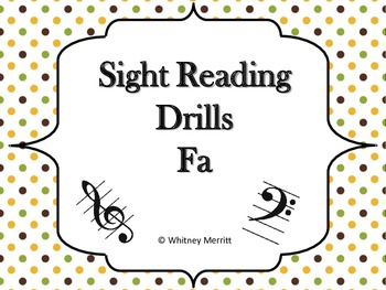 Sight Reading Drill Cards - Fa