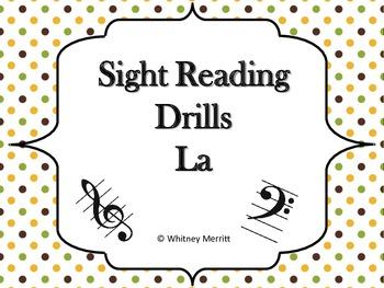 Sight Reading Drill Cards - La