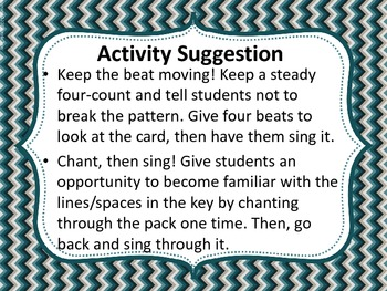 Sight Reading Drill Cards - Re