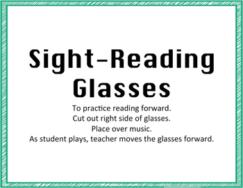 Sight Reading Glasses & Strips
