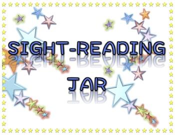 Sight Reading Jar Label - Orchestra, Band, Chorus, Music