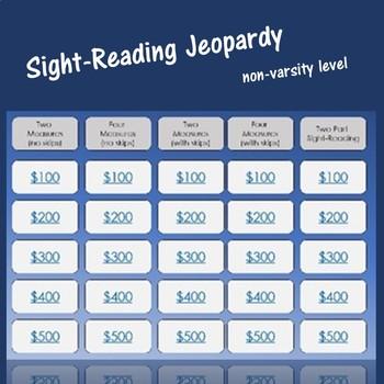 Sight-Reading Jeopardy (Non-Varsity Level)