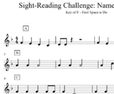 Sight Reading Name that Tune