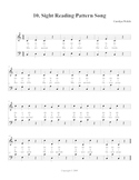 Sight Reading Pattern Song, Student Edition