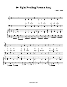 Sight Reading Pattern Song, Teacher Edition