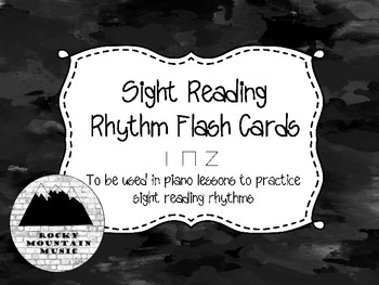 Sight Reading Rhythm Cards