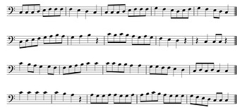 Sight Reading in the Key of C, G, F, Bb