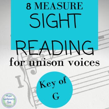 Sight Reading- unison chorus