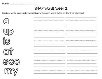 Sight/SNAP Word Activities (Based on Teachers' College Lists)