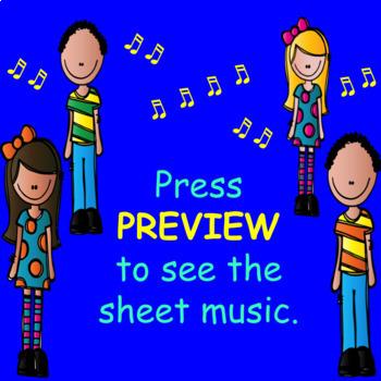 Chorus Sight Singing #3 in C - ♪ ♪ ♪ ♪ ♪ Add eighth notes.