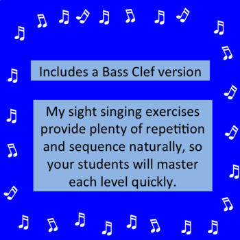 Chorus Sight Singing #3 in D - ♪ ♪ ♪ ♪ ♪  Add eighth notes.
