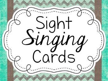 Sight Singing Cards