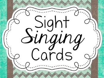 Sight Singing Cards