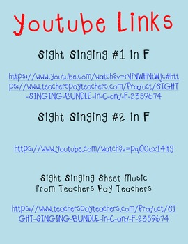 Sight Singing with YouTube