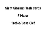 Sight Singing Flash Cards- F Major