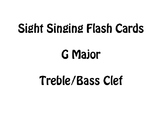 Sight Singing Flash Cards- G Major