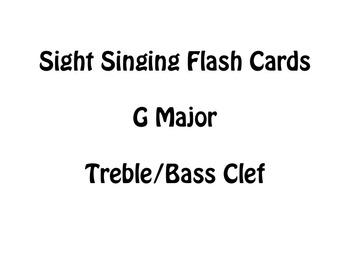Sight Singing Flash Cards- G Major