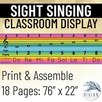Sight Singing Solfege Syllable Display