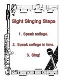 Sight Singing Steps