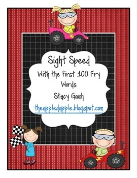 Sight Speed Fluency Cards with the First 100 Fry Words