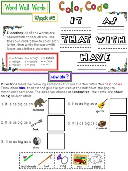 Sight Vocabulary - First 25 Sight Words- Word Wall Activities