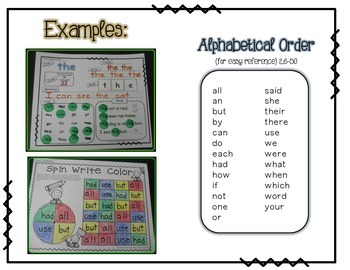 Sight WORD Practice Packet 2 {Fry's Word List 26-50}