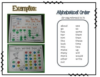 Sight WORD Practice Packet 3 {Fry's Word List 51-75}