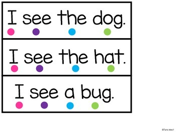 Sight Word 1 to 1 Strips