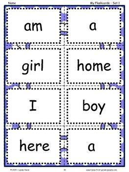 Sight Word Sentence Sets #2