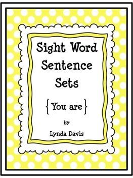 Sight Word Sentence Sets #4