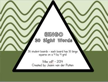 Sight Word (30 words) Bingo