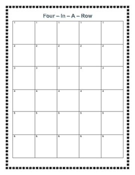 Sight Word 4-In-A-Row Game Boards