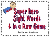 Sight Word 4 in a Row Game
