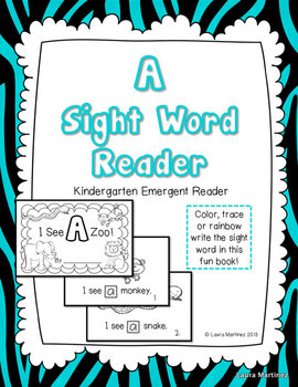 "Sight Word ""A"" Emergent Reader"
