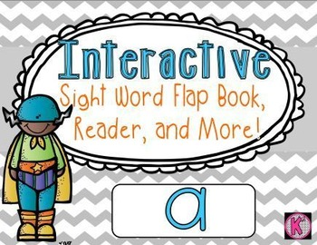 Sight Word: A - Interactive Flap Book, Reader, and More!