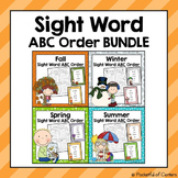 Sight Word ABC Order {BUNDLE}