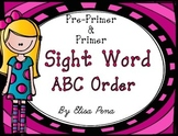 Sight Word ABC Order Cut and Paste Printables