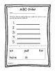 Sight Word ABC Order Freebie