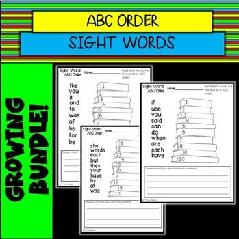 Sight Word ABC Order GROWING BUNDLE