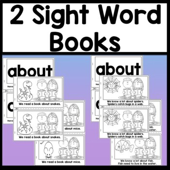 Sight Word ABOUT {2 Sight Word Books and 4 Worksheets!}