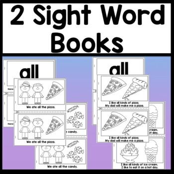 Sight Word ALL {2 Sight Word Books and 4 Worksheets!}