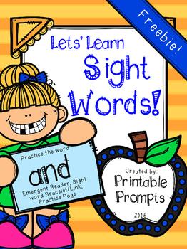 Sight Word- AND {Freebie}