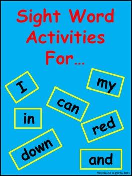 Sight Word Activites