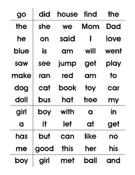 Parent Resource- Sight Word Activites Brochure & More